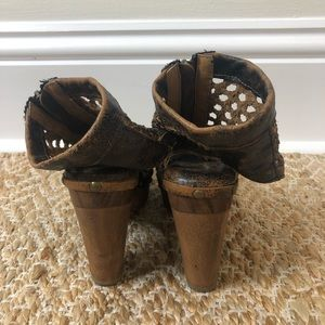 Sbicca Shoes - Sbicca Vintage Collection Brown Leather Heels